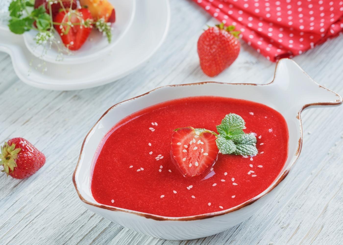 Gaspacho de morango