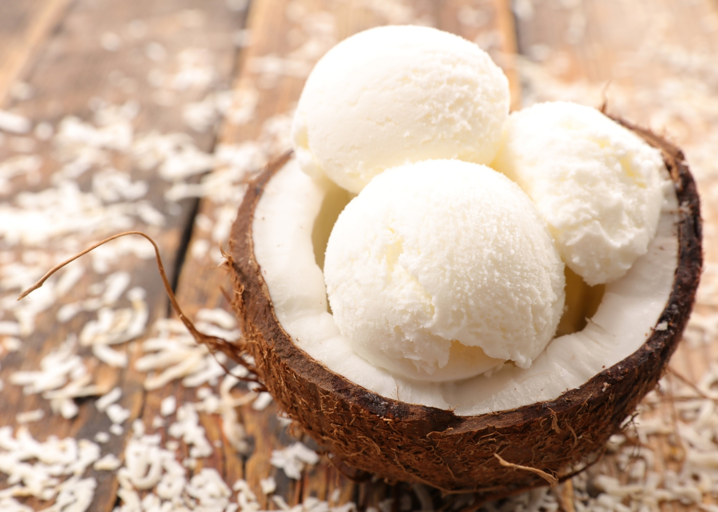Bolas de gelado de coco e limão