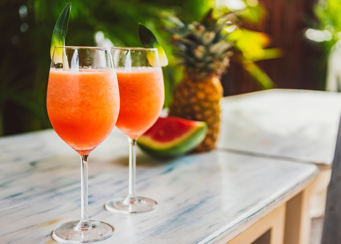 Sumo de melancia e abacaxi