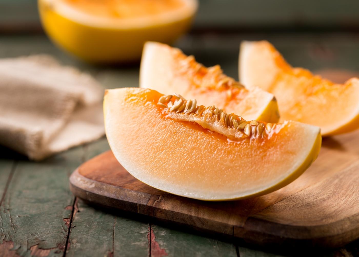 fatias de melão maduro