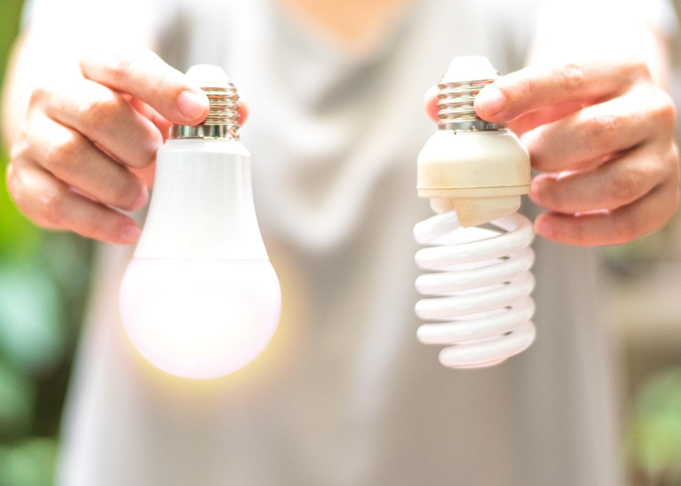lâmpadas económicas para casa