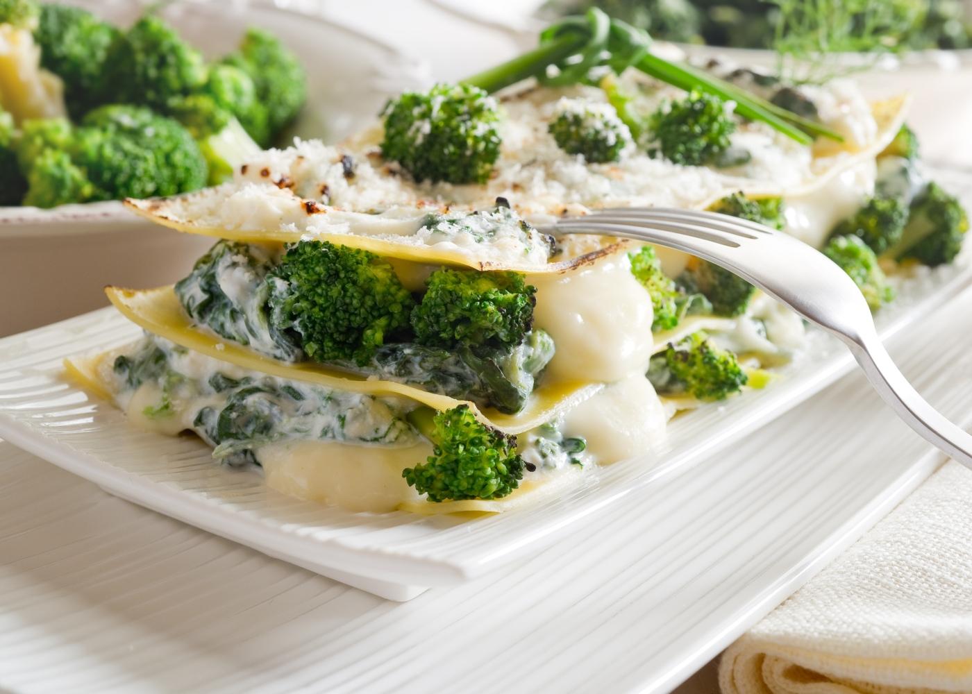lasanha de brócolos