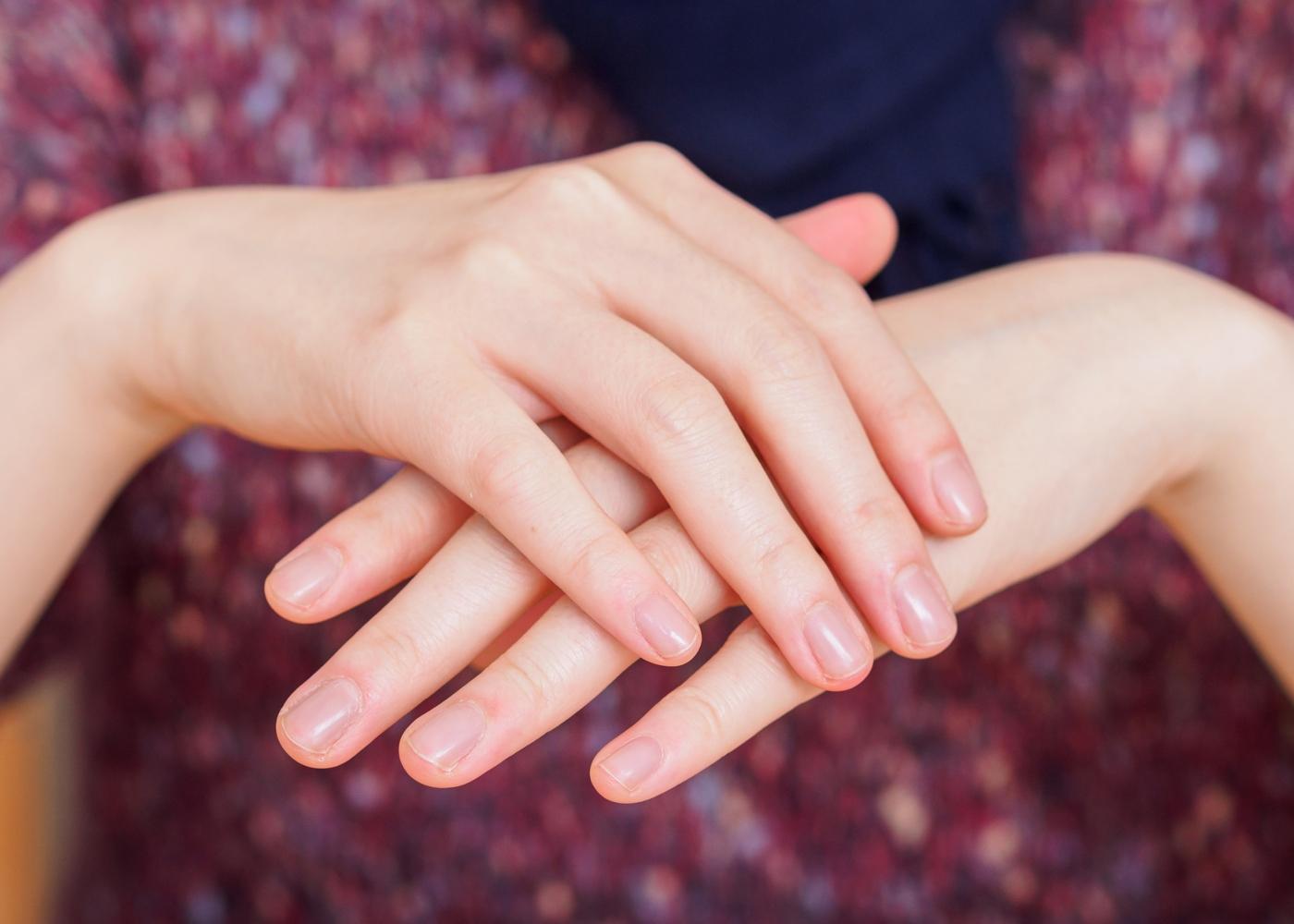 Mãos de mulher