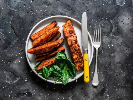 salmão com batata-doce