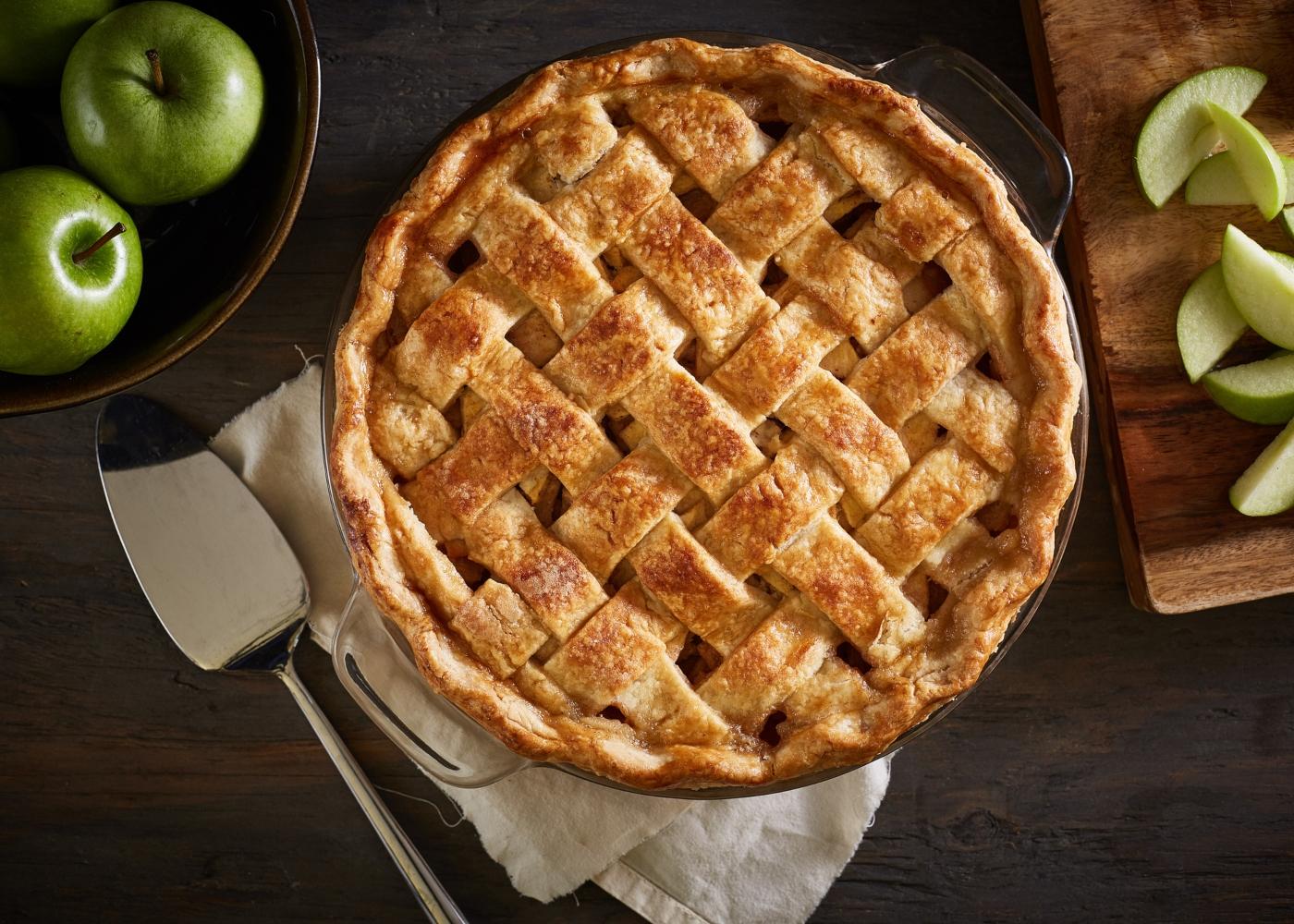tarte de maçã com canela