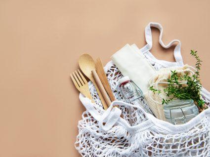 utensílios ecológicos de cozinha