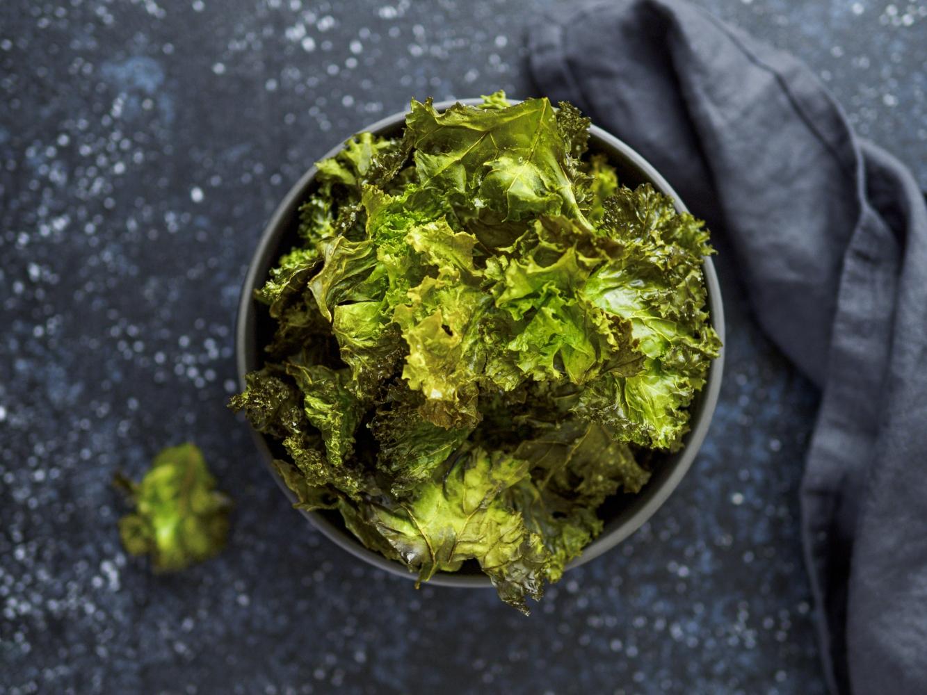 couve kale no forno
