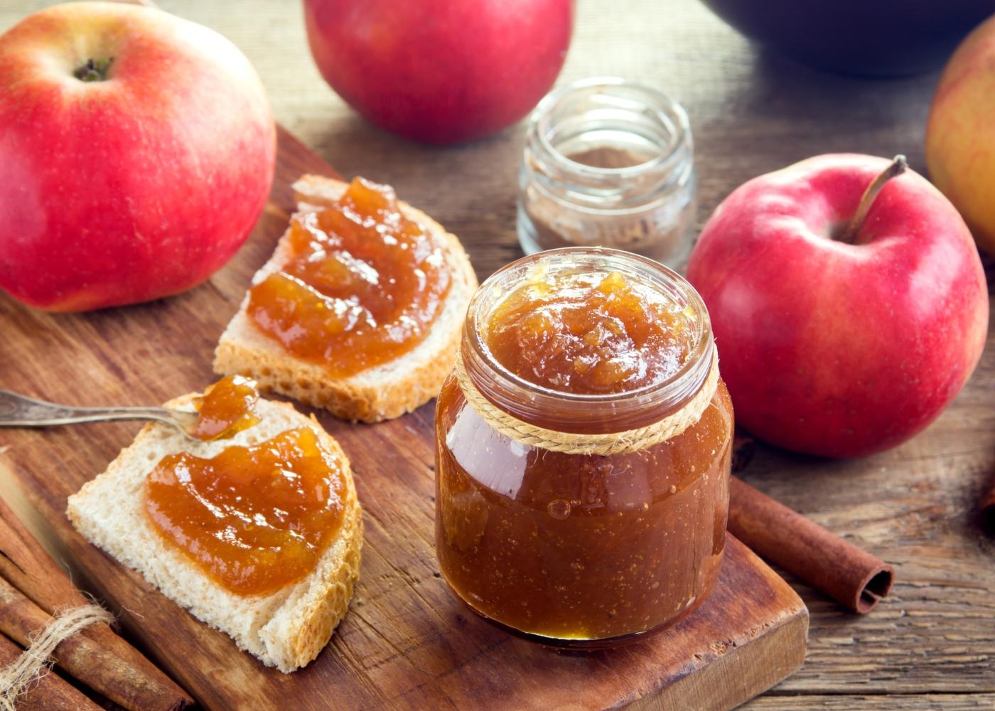 Compota de frutos vermelhos com maçã