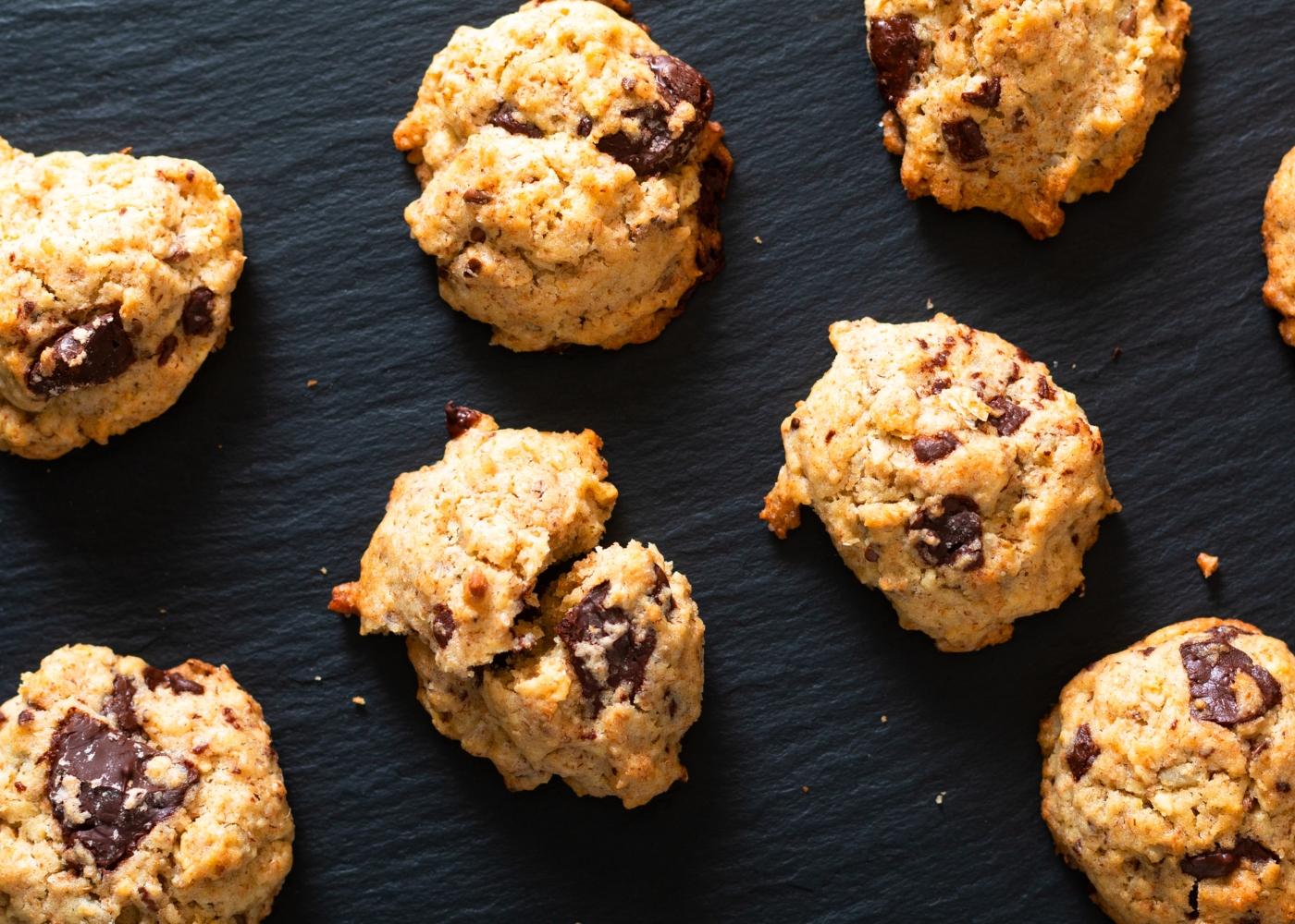 Cookies de ameixa e coco