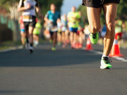 Atletas a correr a maratona