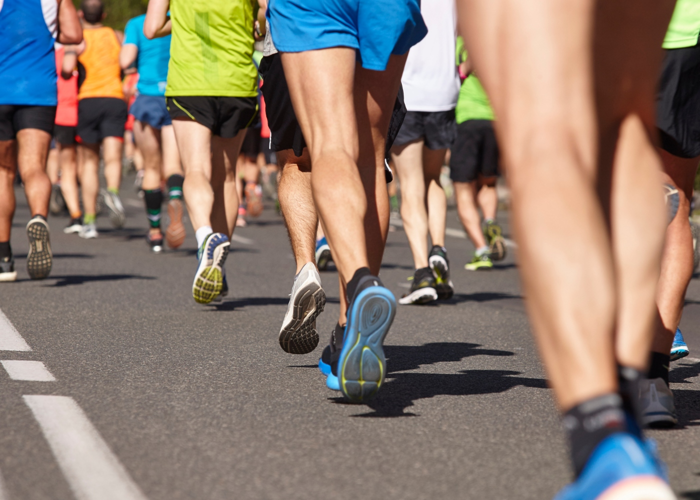 Pessoas numa prova de maratona