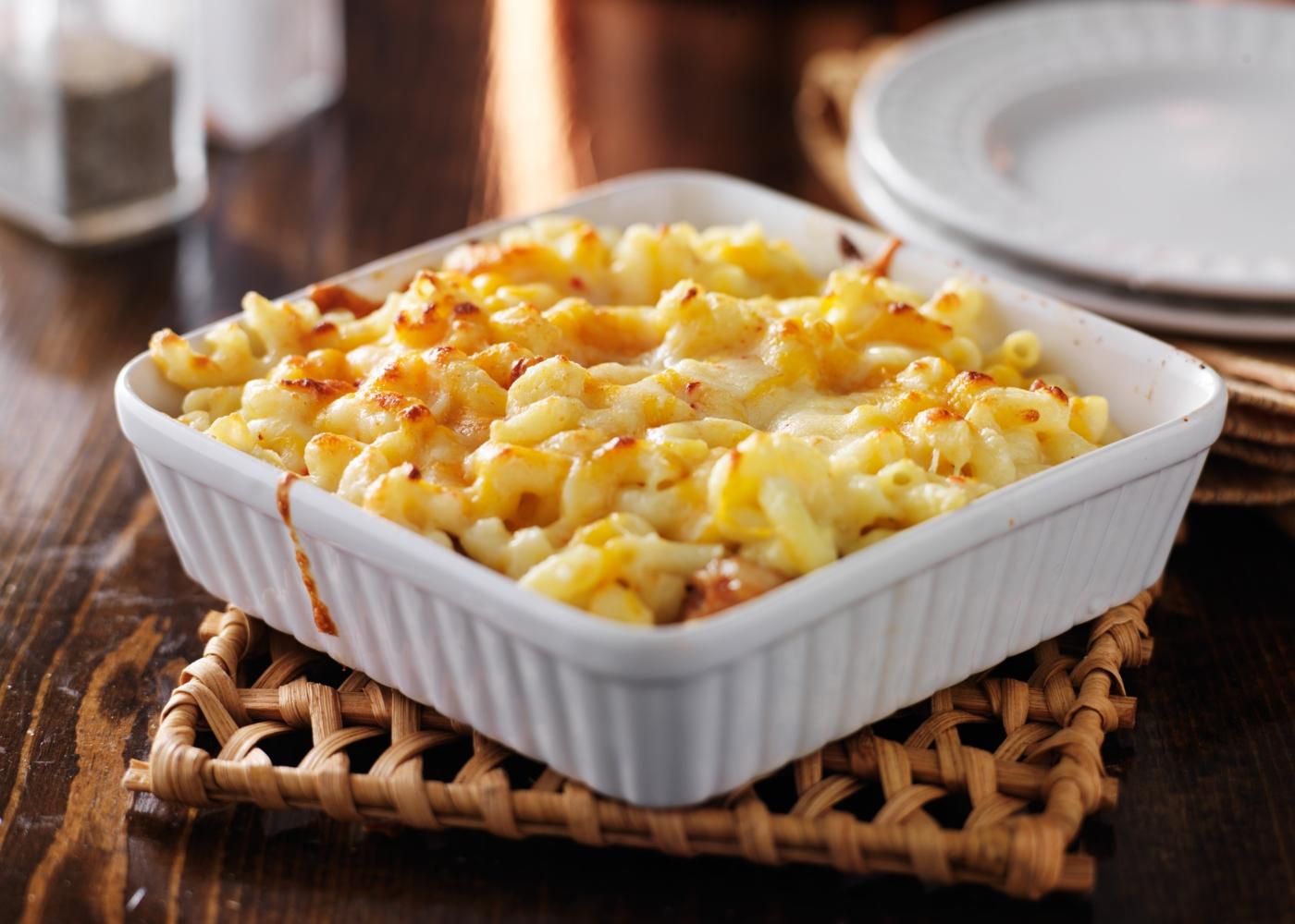 Caçarola de macarrão com queijo
