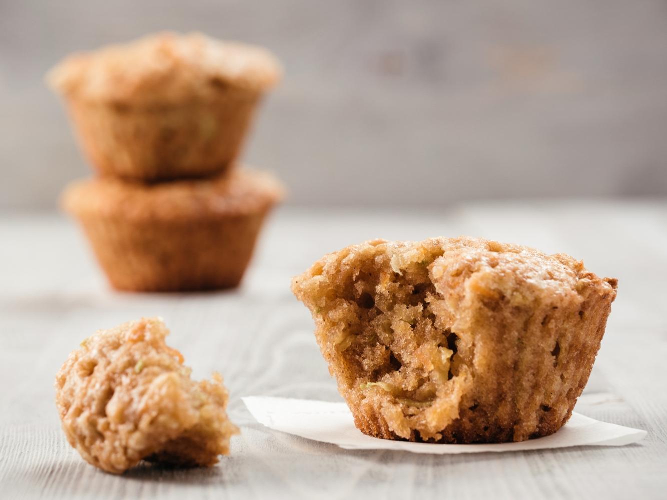 muffins de abóbora e maçã