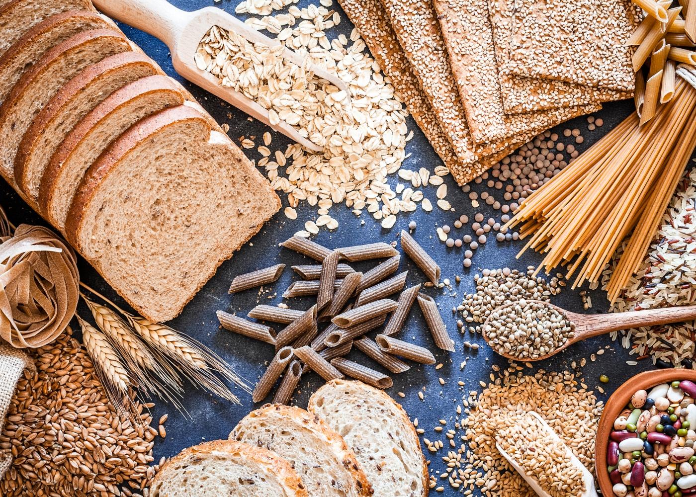 Variedade de alimentos ricos em cereais