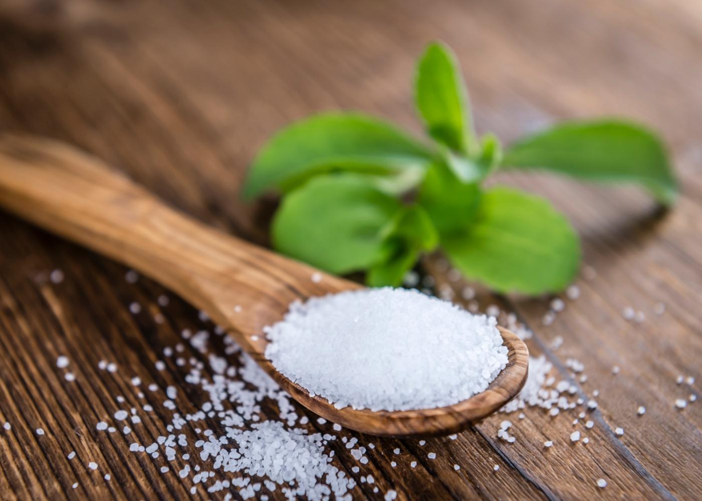 Colher com stevia