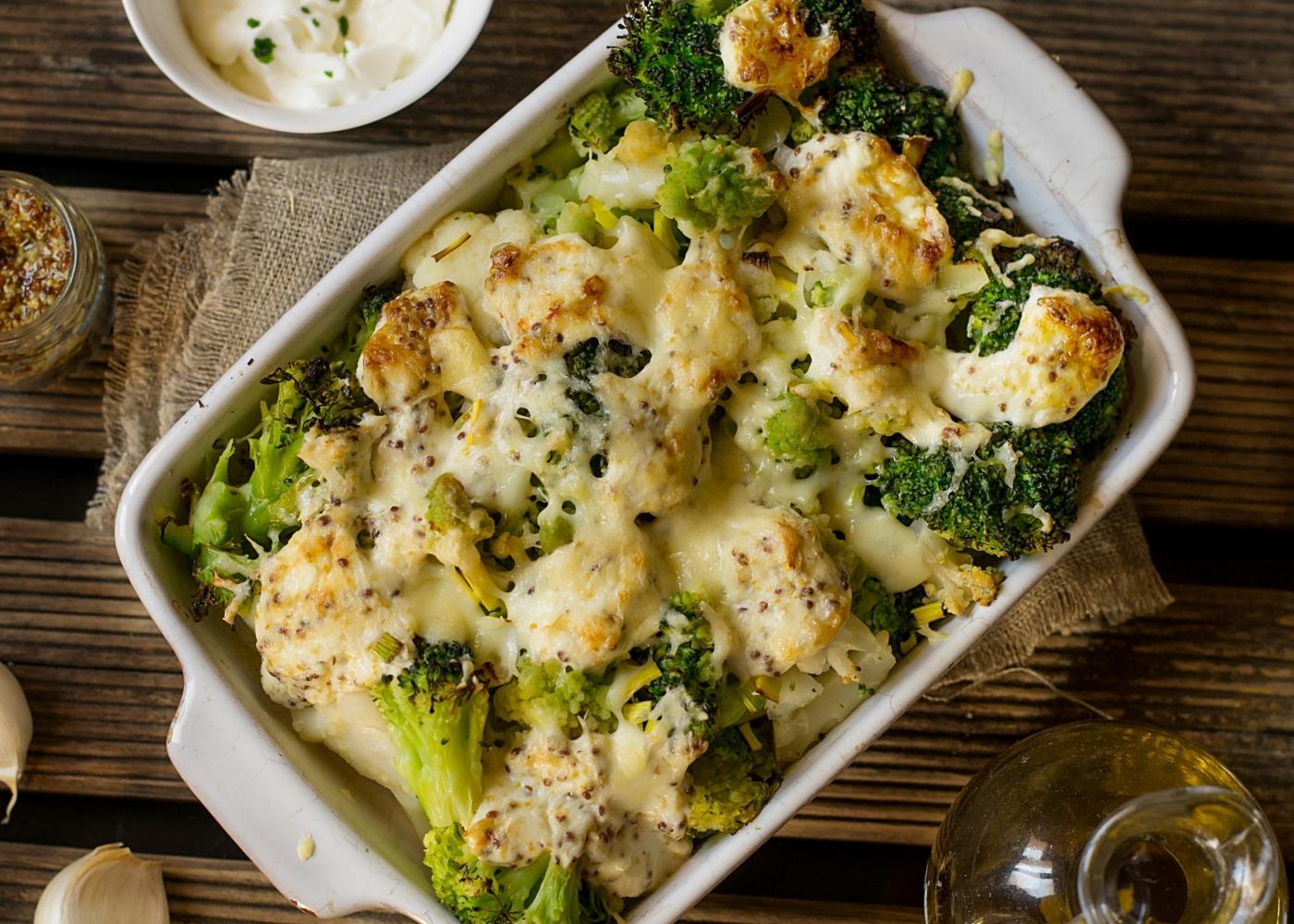 Gratinado de legumes com frango