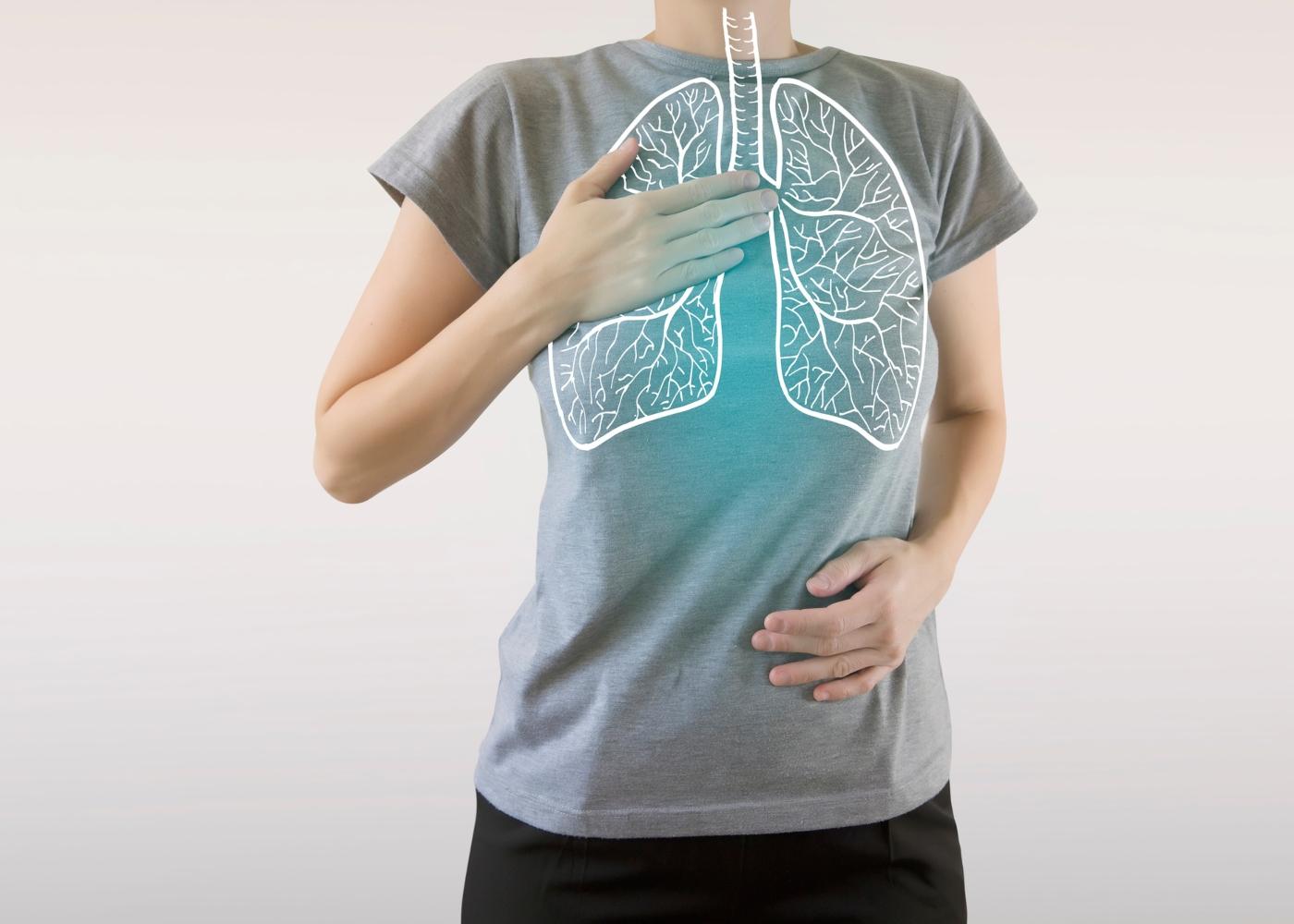 Ilustração de pulmões
