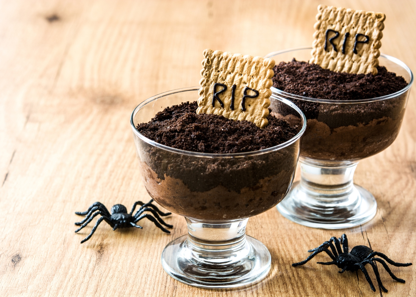 mousse de chocolate halloween