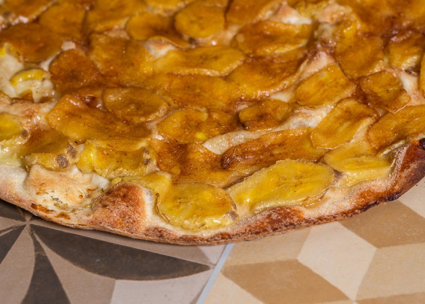 Pizza integral com banana