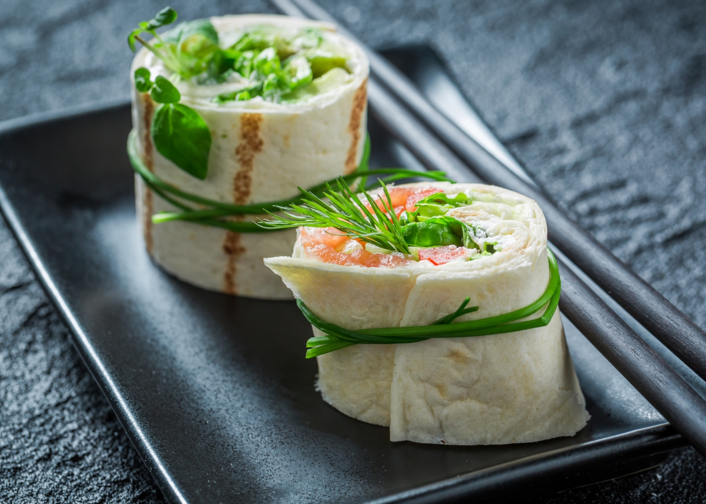 Wraps de salmão
