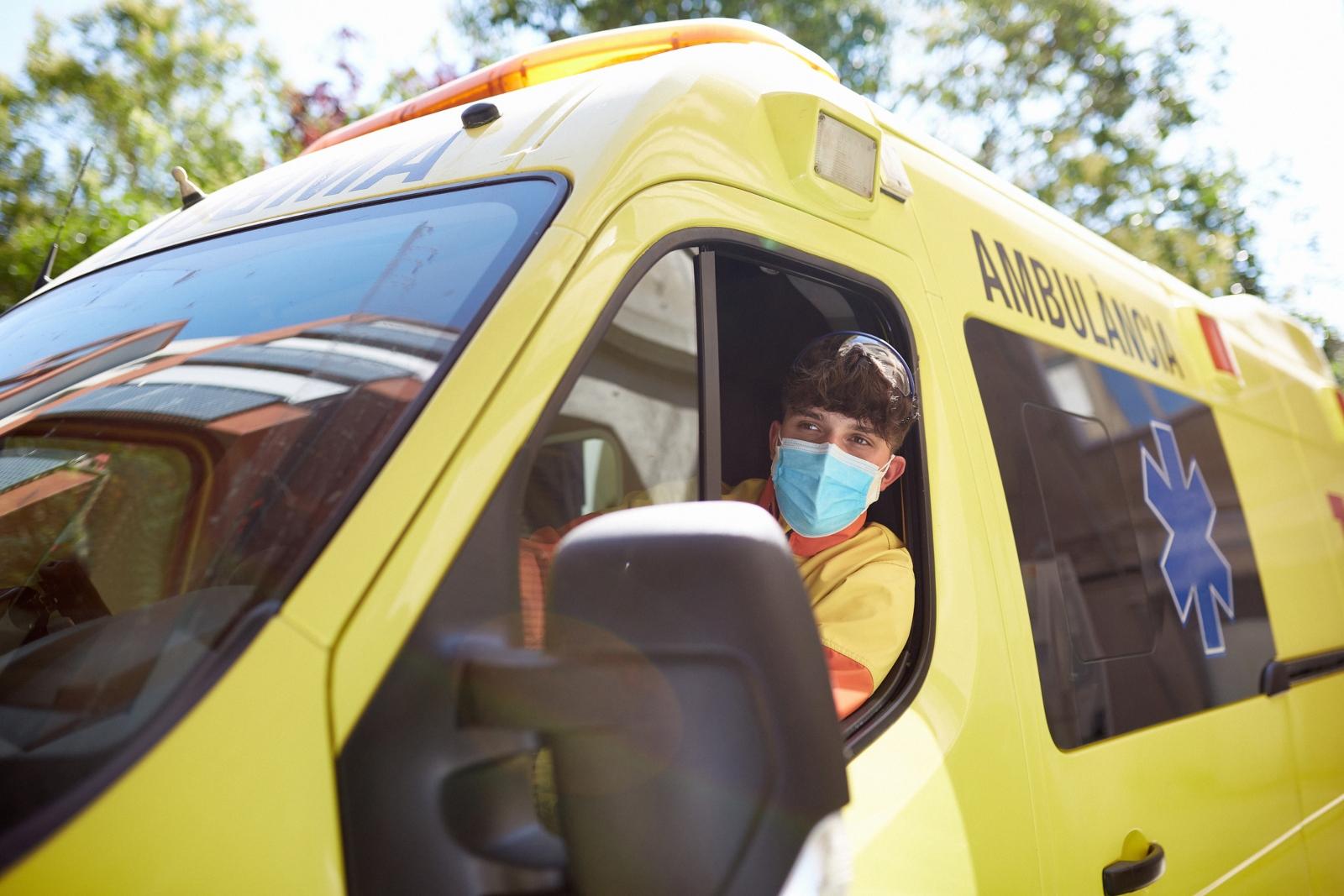 Ambulância para transporte de doentes