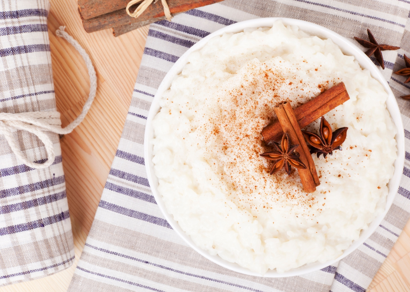 tigela com arroz doce