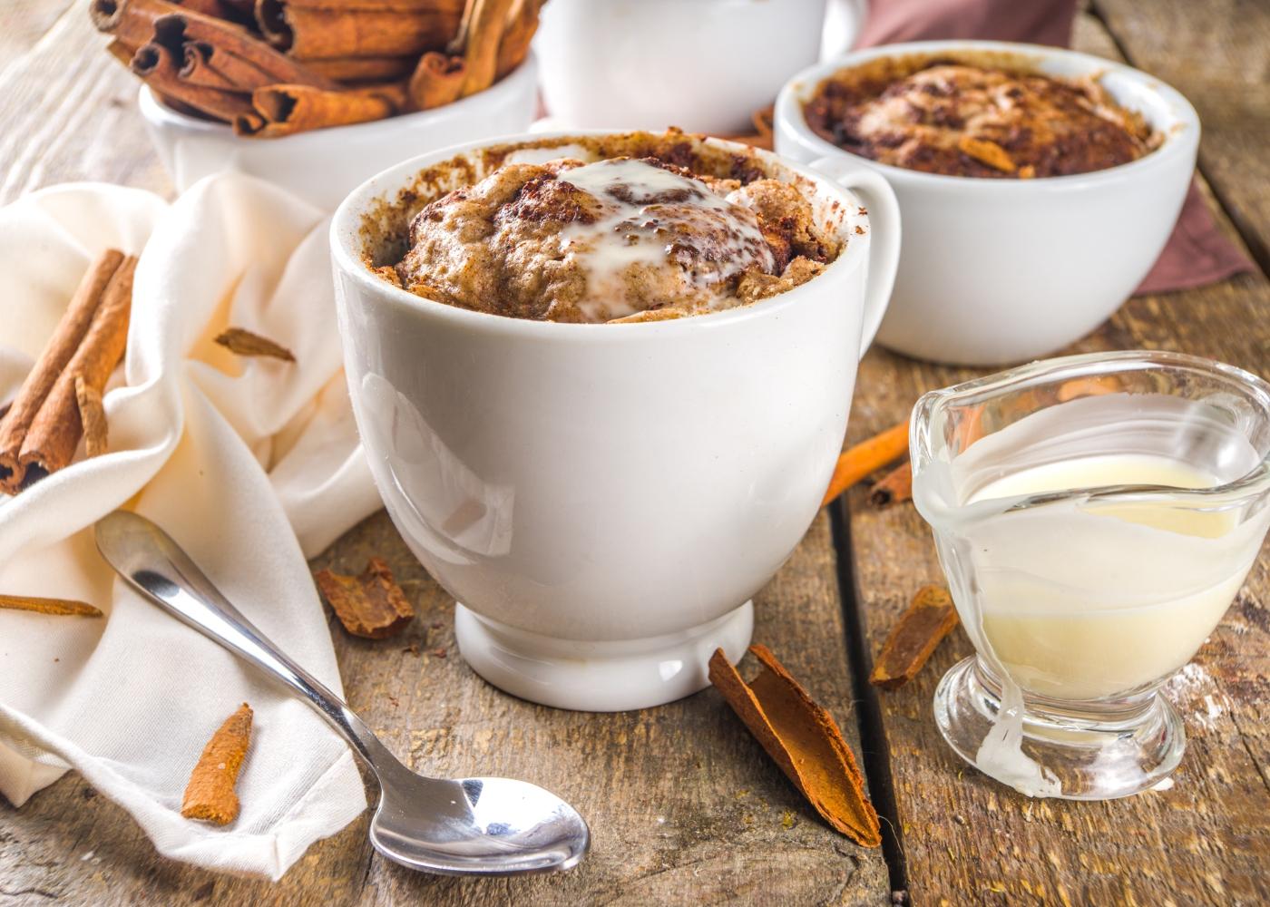 bolo de caneca fit de café e canela