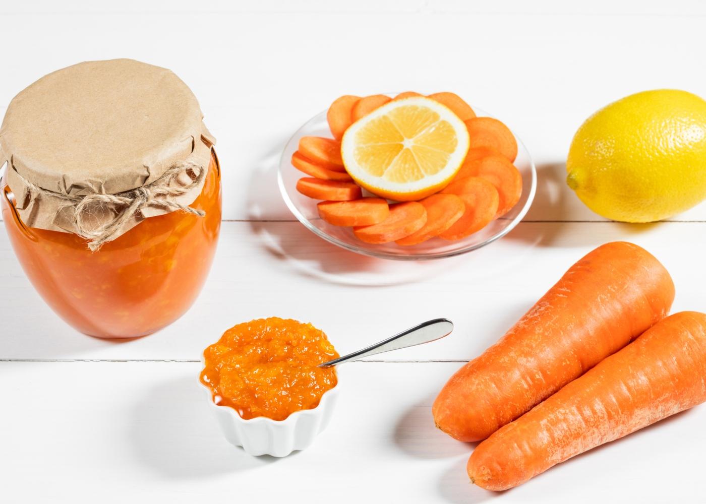 Compota de cenoura e gengibre