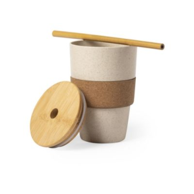Copo de bambu e cortiça da mybrinde