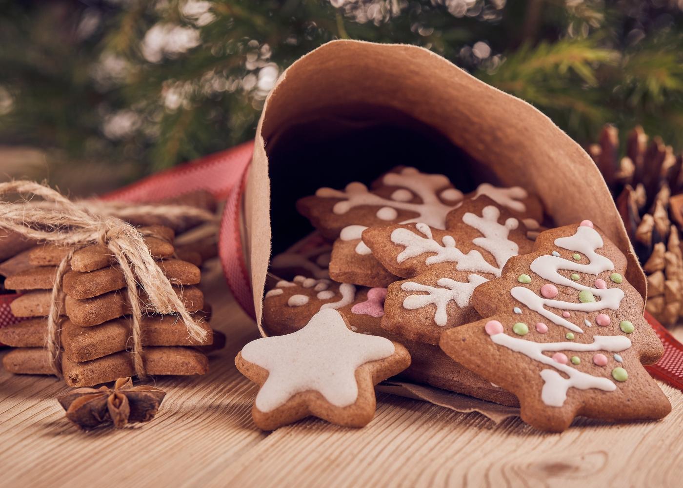 Massa para bolachas de Natal de gengibre e canela