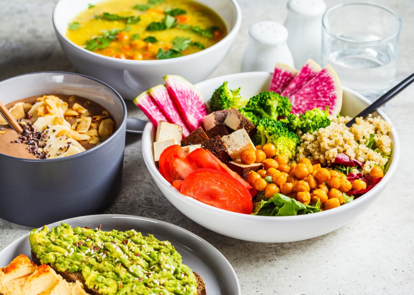 Alimentos essenciais a vegetarianos