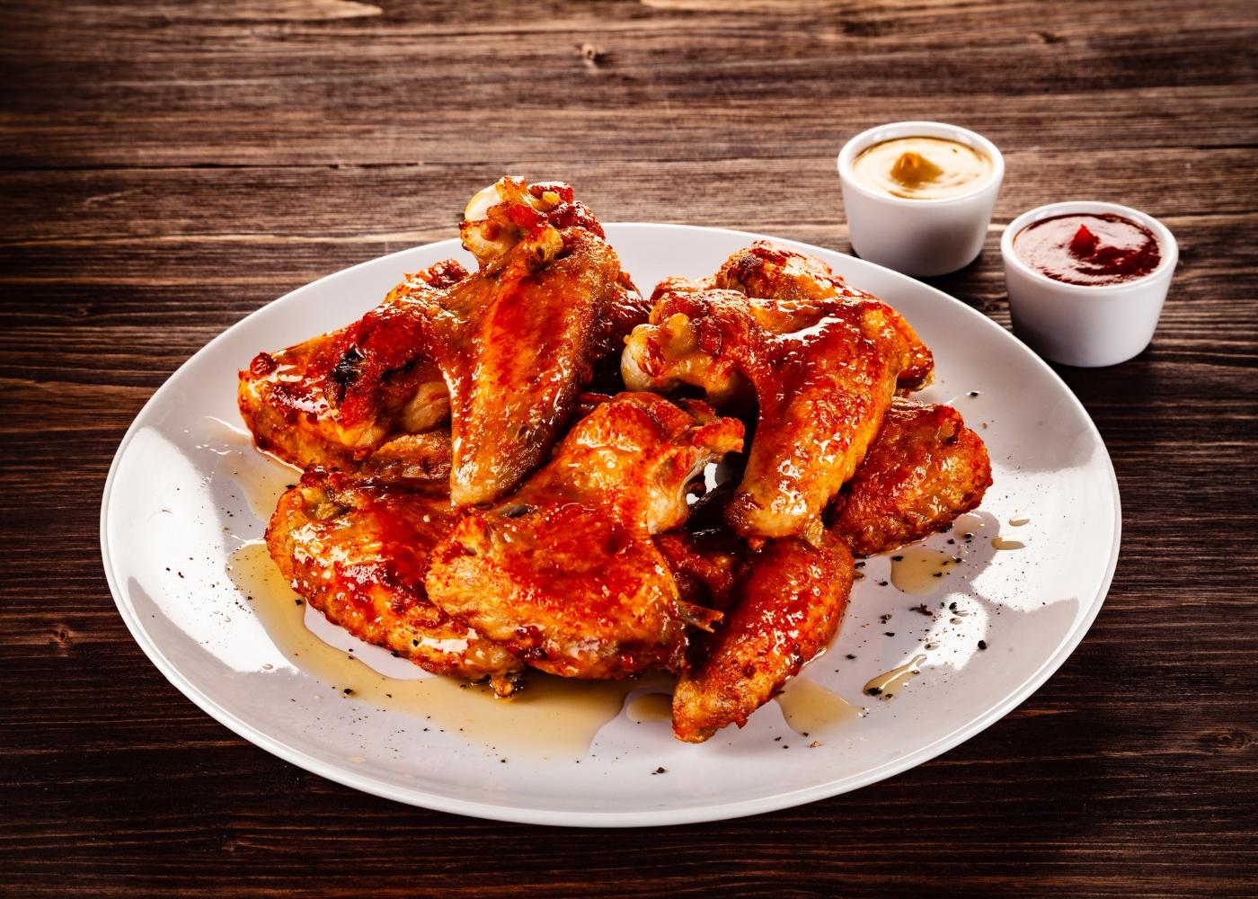 asas de frango assadas com mostarda