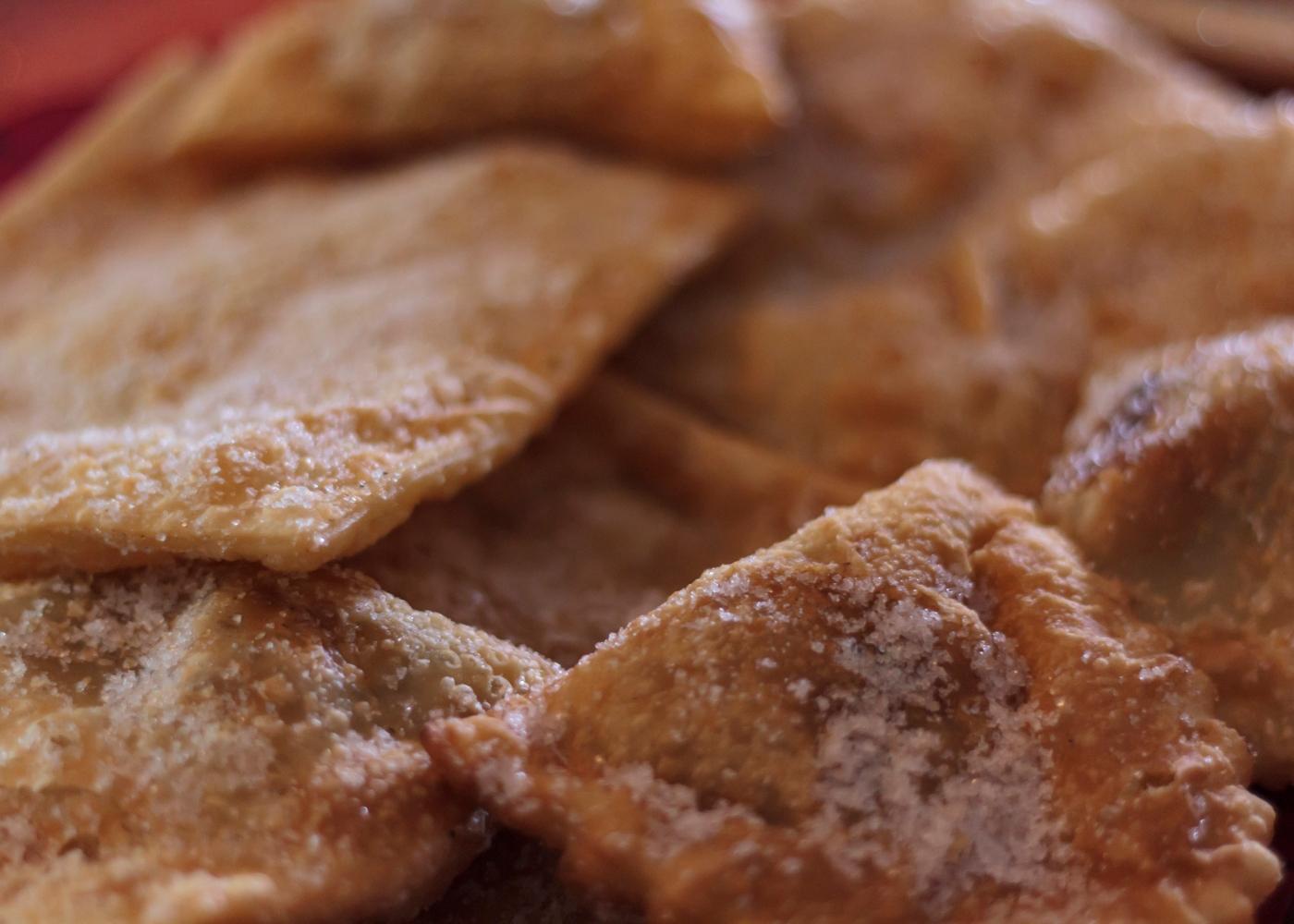 receita de azevias de batata-doce, amêndoa e gila