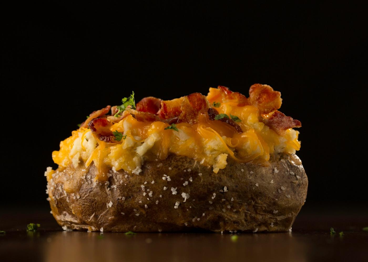 Batata-doce com bacon