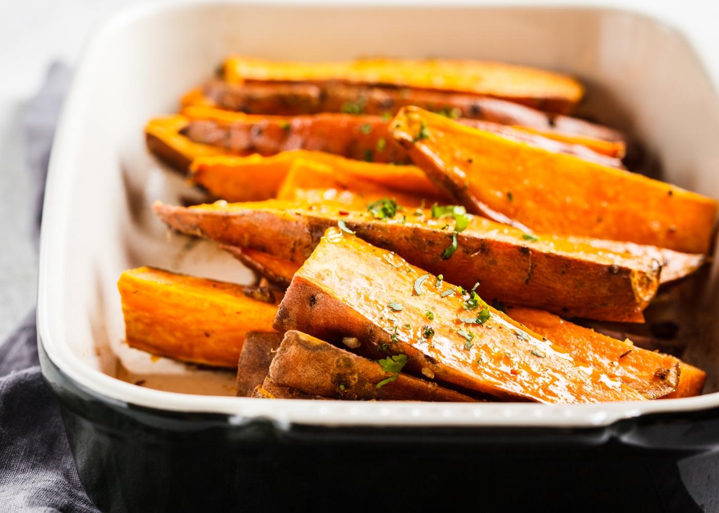 receita de batata-doce grelhada com alecrim