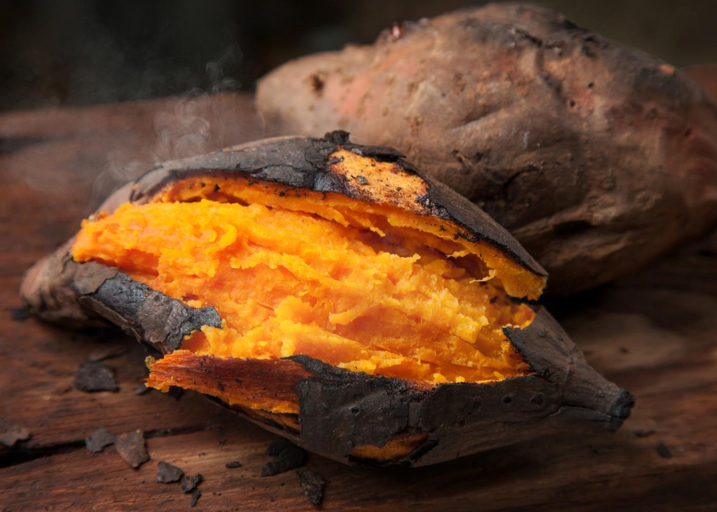 Batata-doce grelhada com especiarias