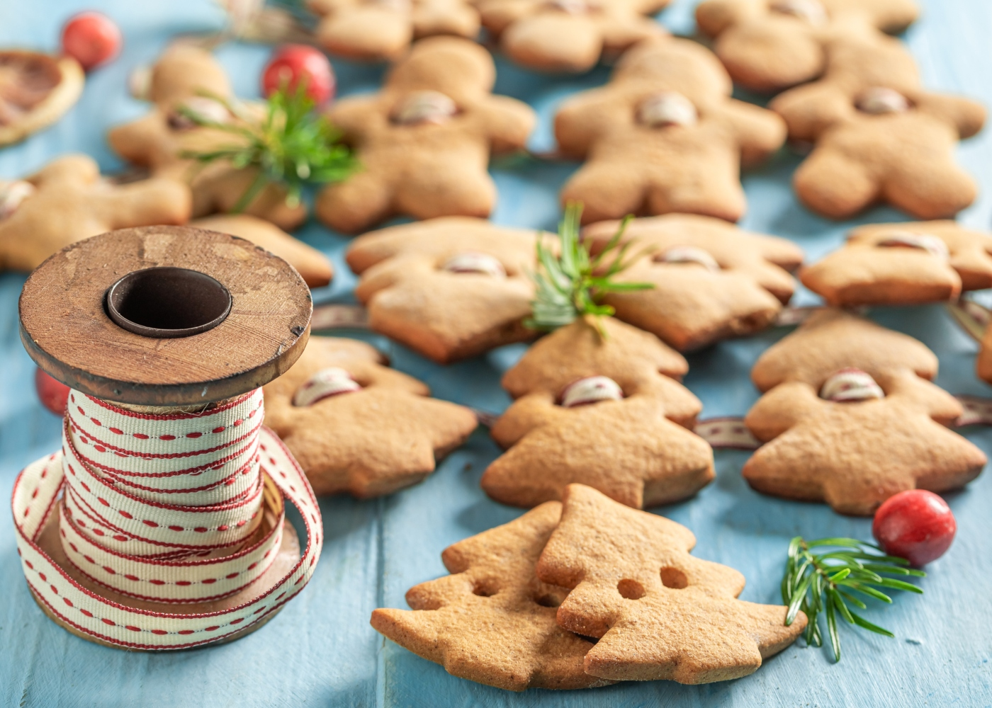 Bolachas de Natal sem glúten e sem lactose