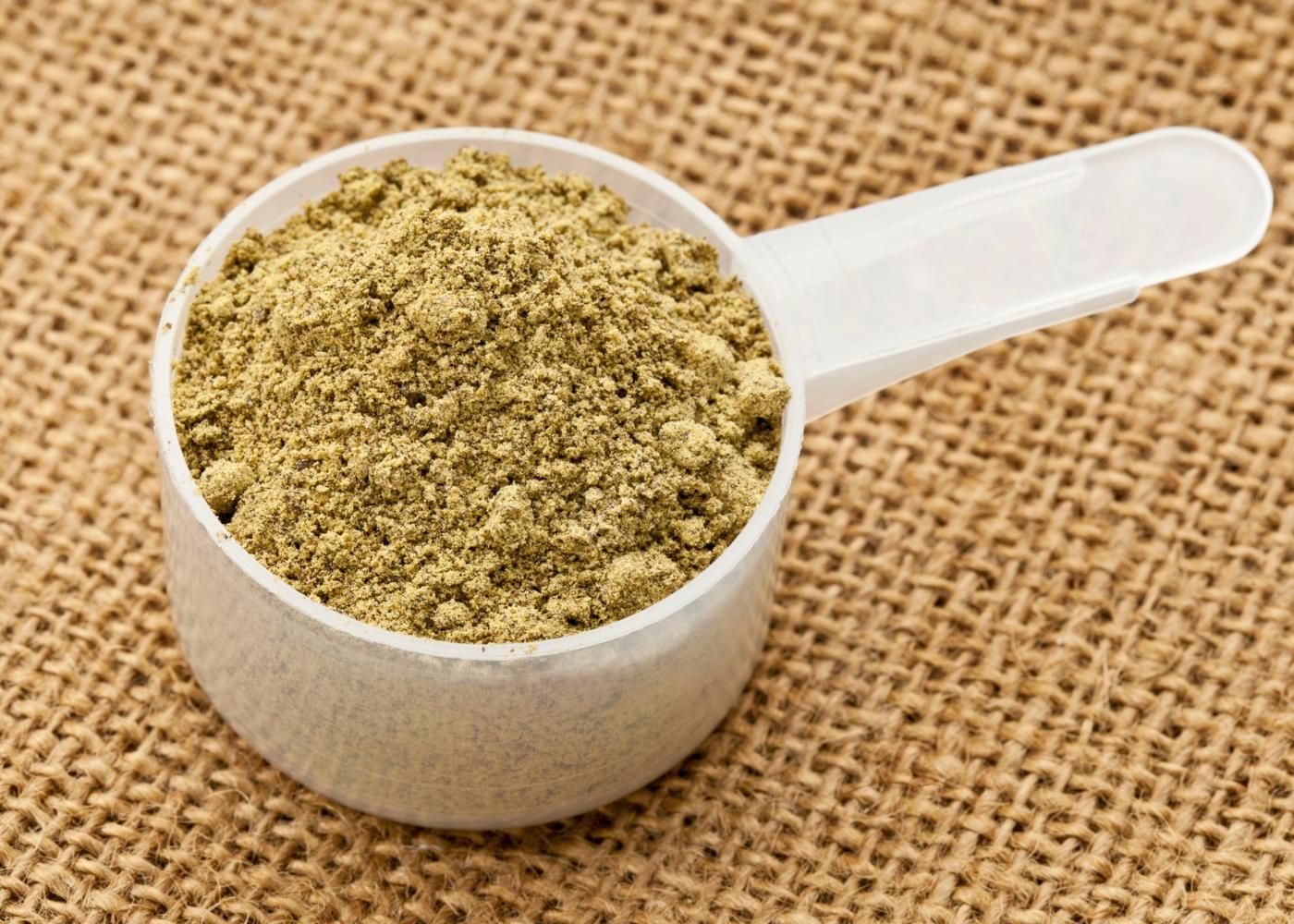 Scoop de proteína de cânhamo