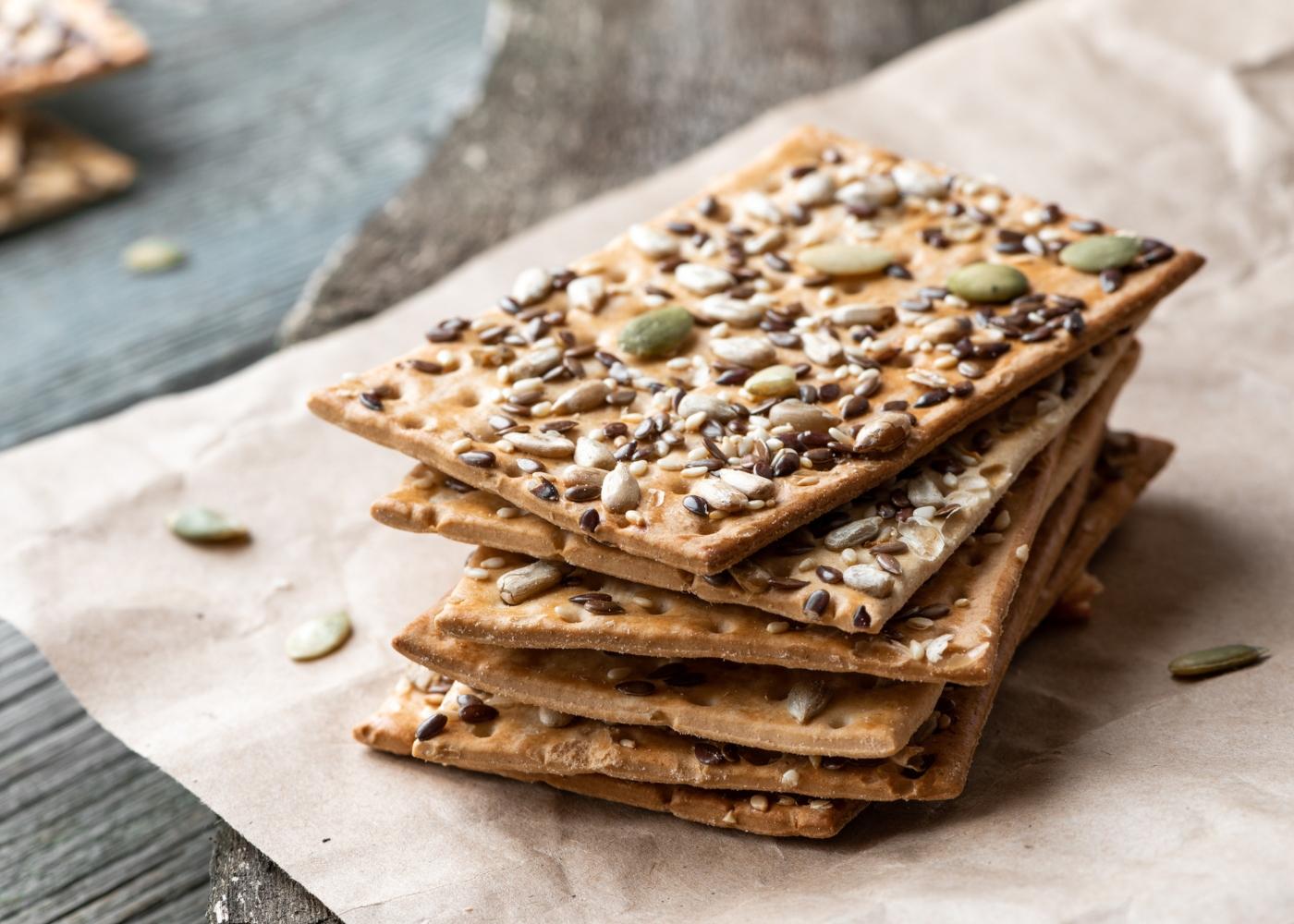 Crackers com sementes