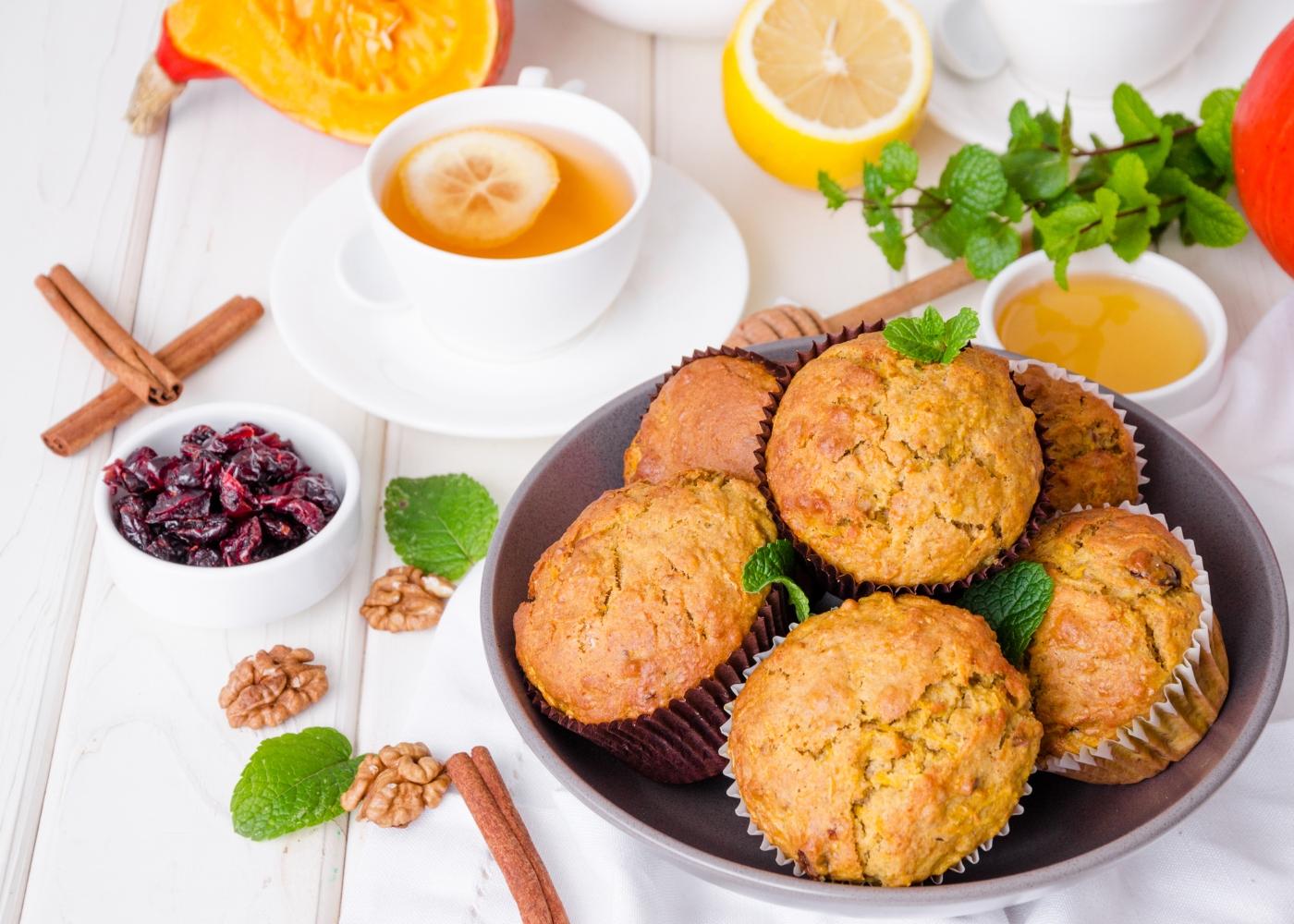 receita de muffins de canela e limão