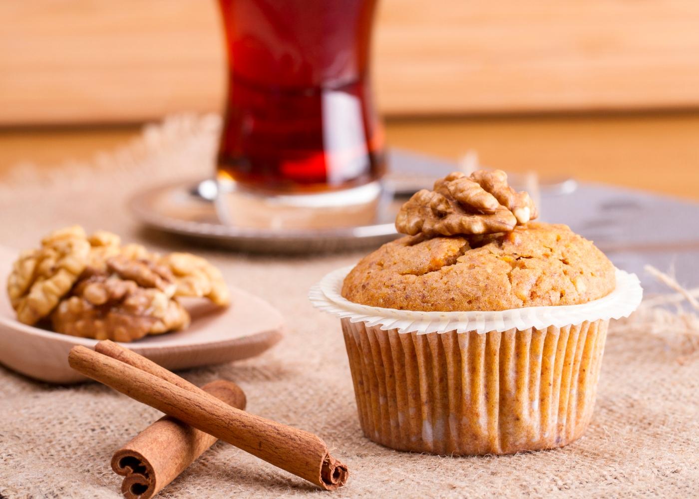 receita de muffins de canela e noz