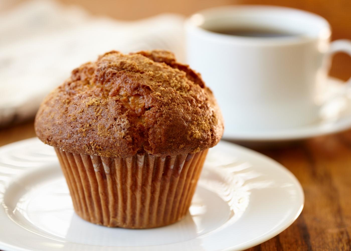 receita de muffins de canela simples