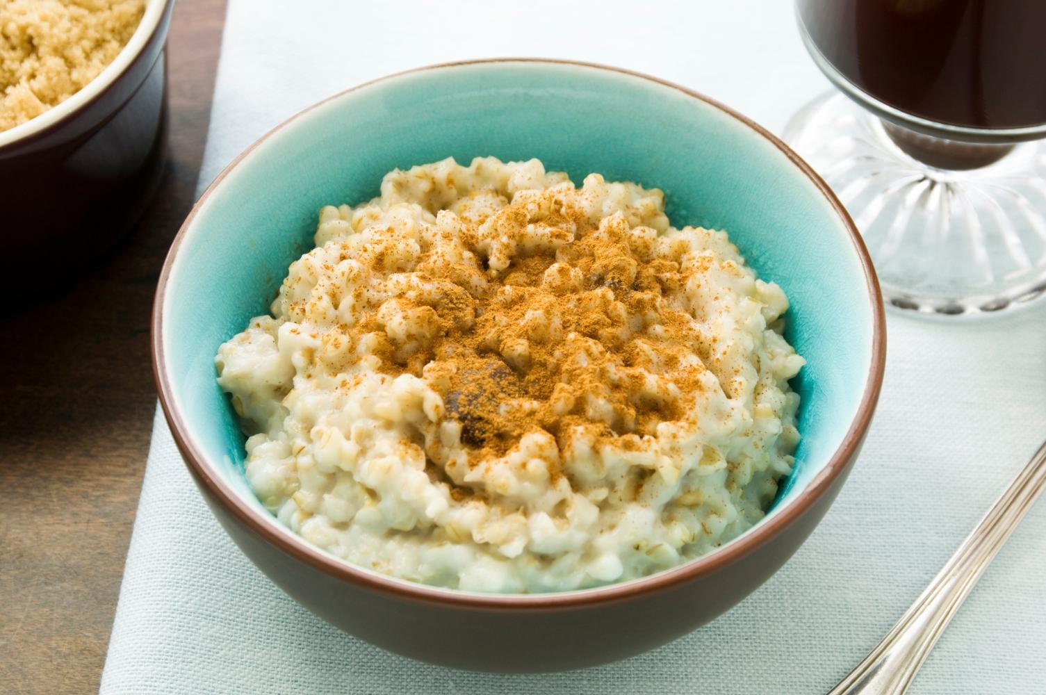 receita de papas de aveia de batata-doce e canela