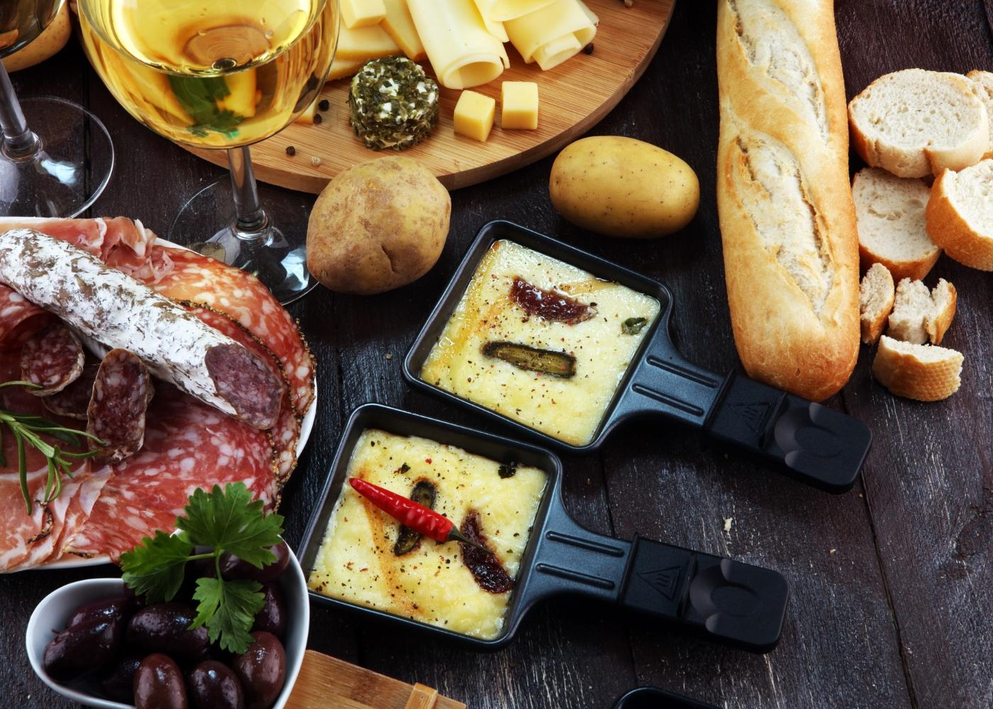 Receita de raclette com enchidos