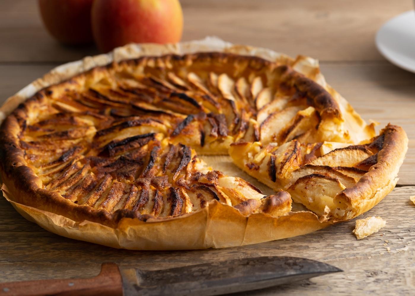 Tarte de maçã com massa quebrada