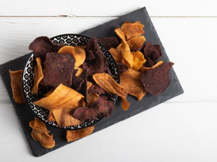 receitas de chips de casca de batata-doce