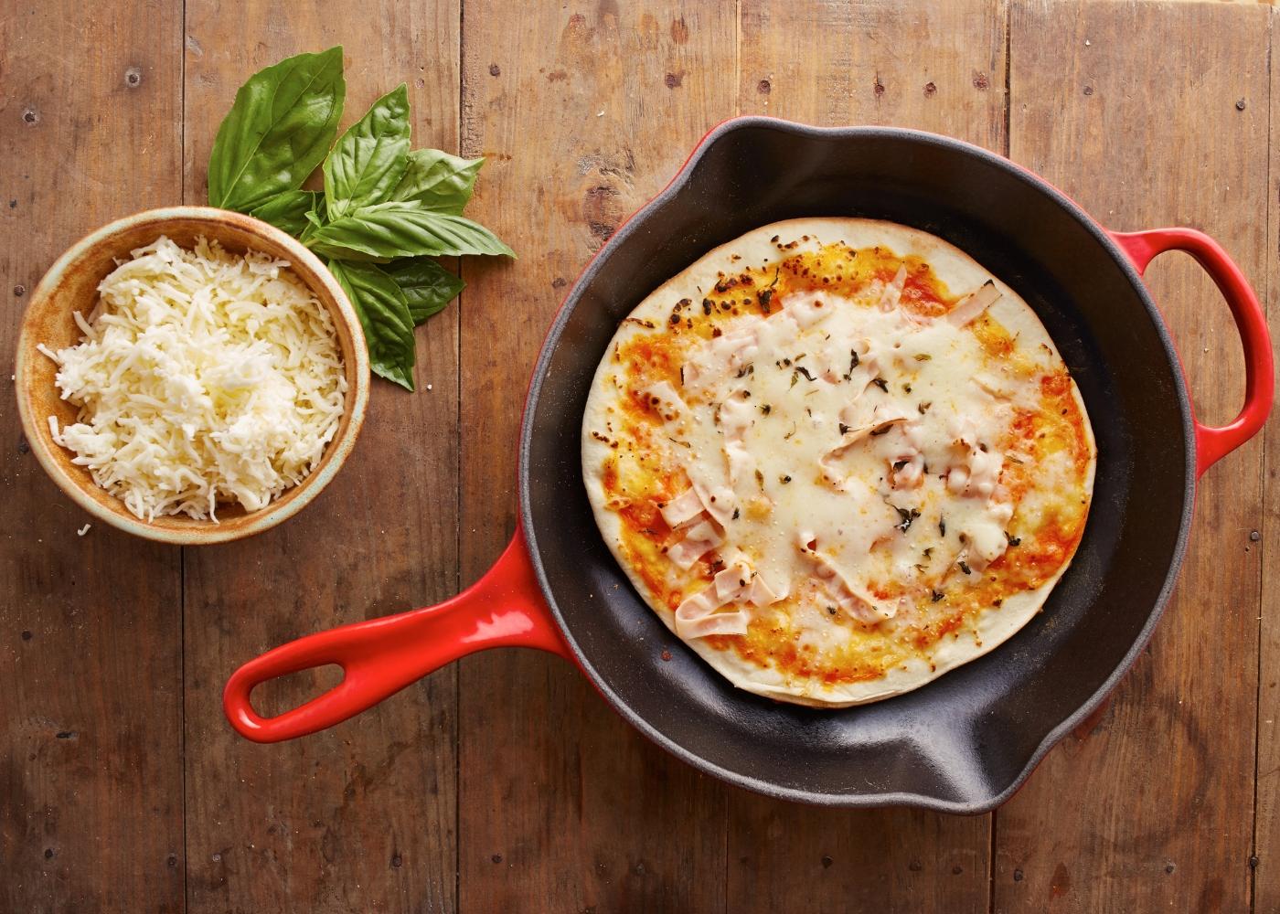 crepioca pizza frigideira