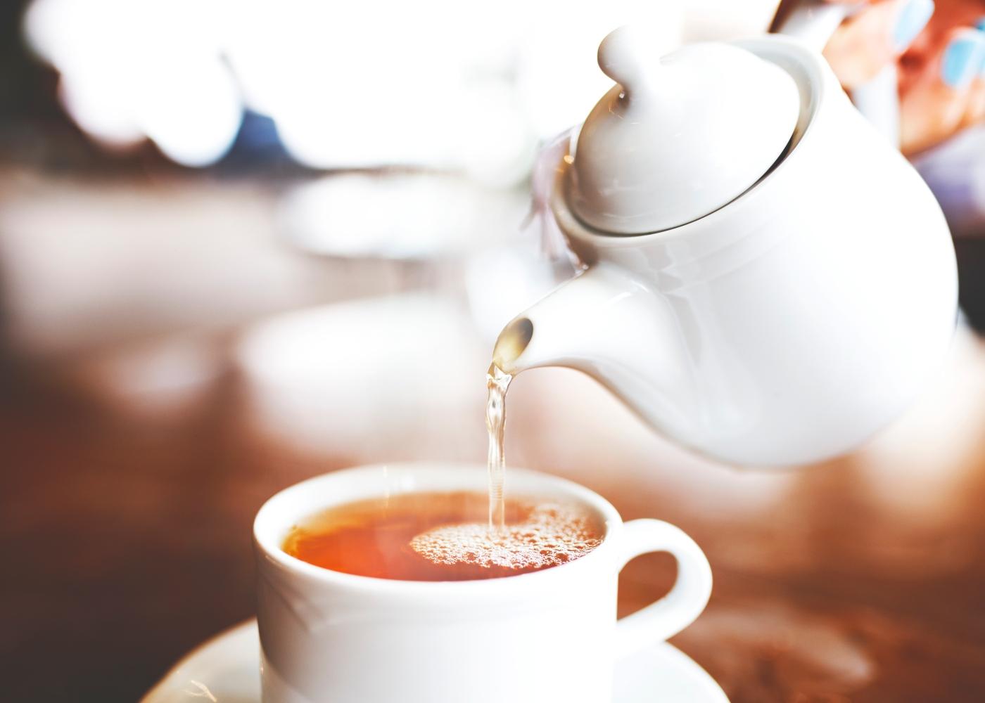 Bule de chá verde