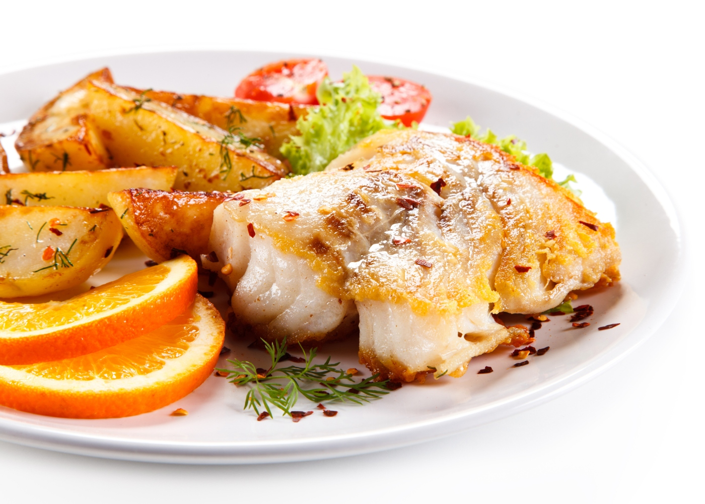 prato dourada assada mel e laranja