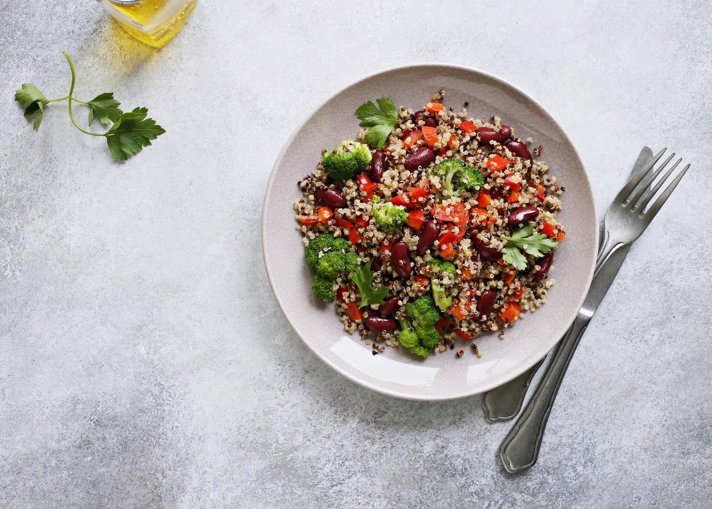 receita one pot quinoa com feijão